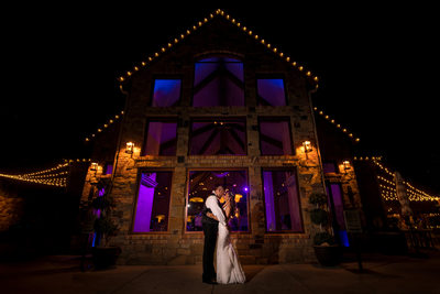 Bride & Groom portrait at Della Terra Mountain Chateau wedding in Estes Park