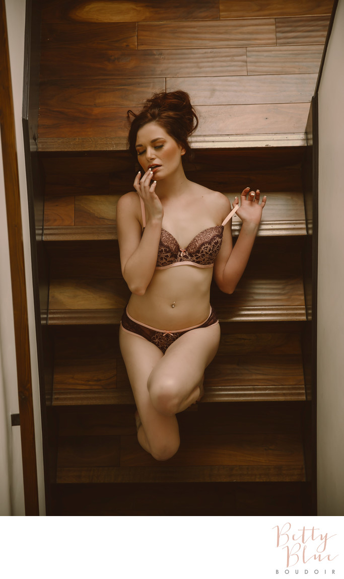 Woman on Stairs Boudoir