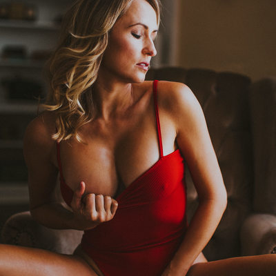 Red One Piece Lingerie