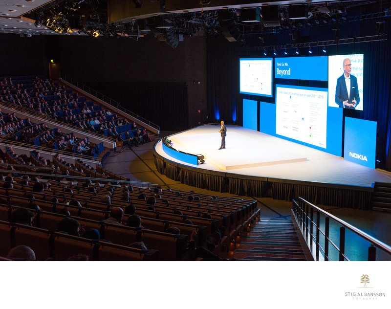 On the big stage - Nokia Sales Conference