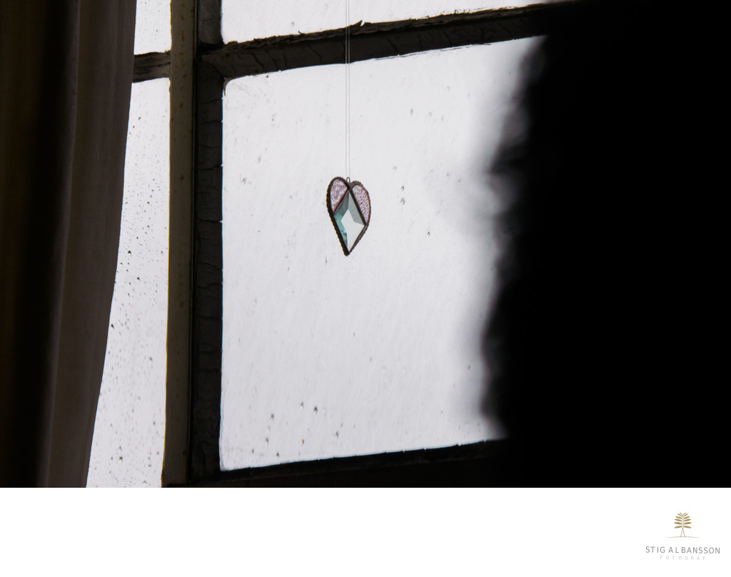 Window with heart