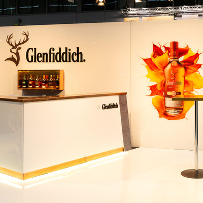 Glenfiddich monter designad av Parad Design Solution