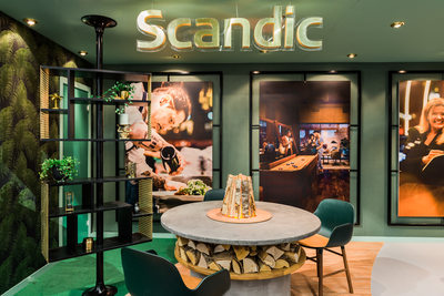 Scandics mässmonter designad av Parad Design Solution