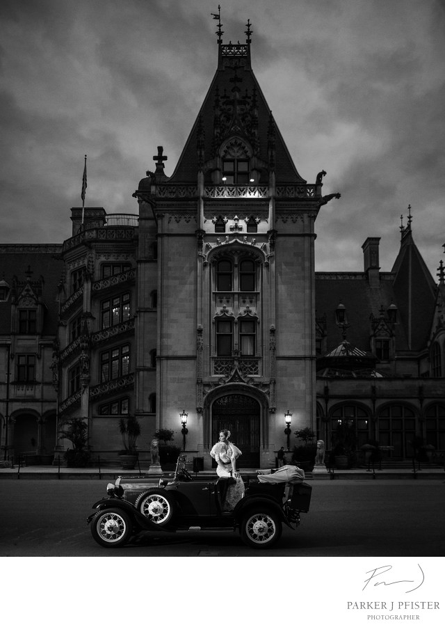 Vintage Car Biltmore Estate Wedding Photography