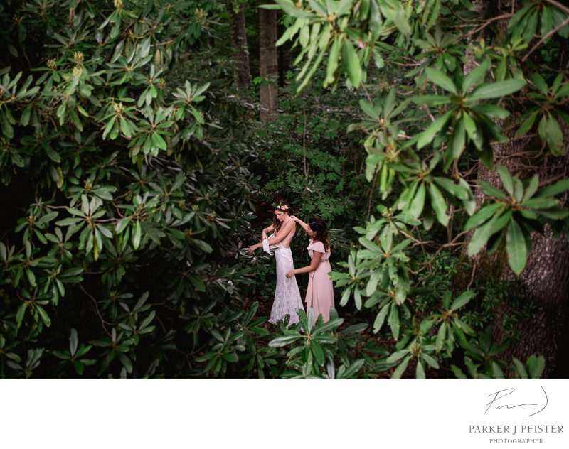 Cashiers NC Bridal Wedding Photography