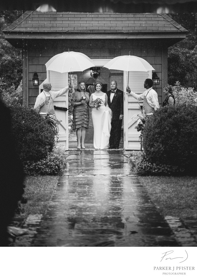 Beautuful Rainy Highlands NC Wedding