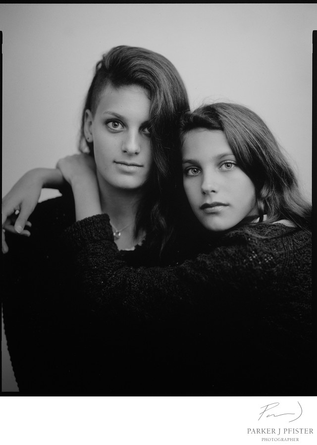 Sisters Portrait in Asheville