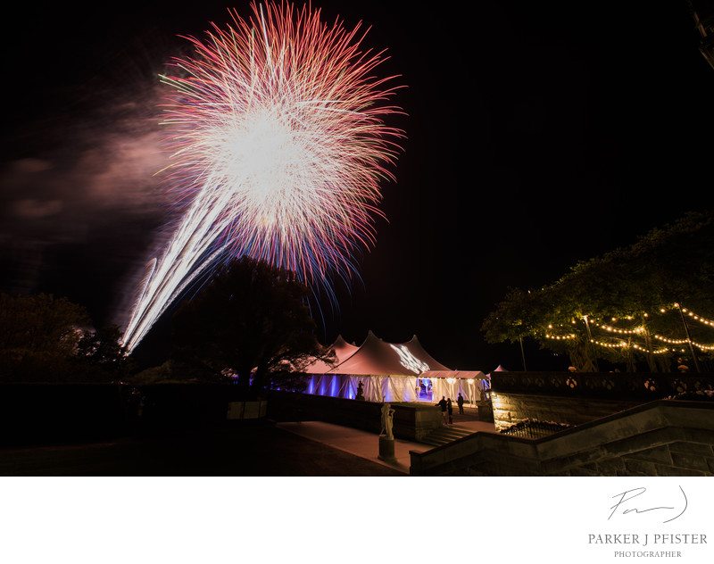 Biltmore Estate Wedding Fireworks Photographer