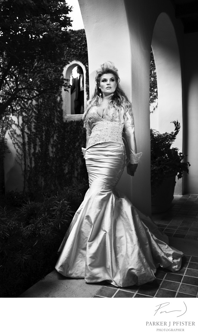 Cloisters Sea Island Black and White Bridal Photos