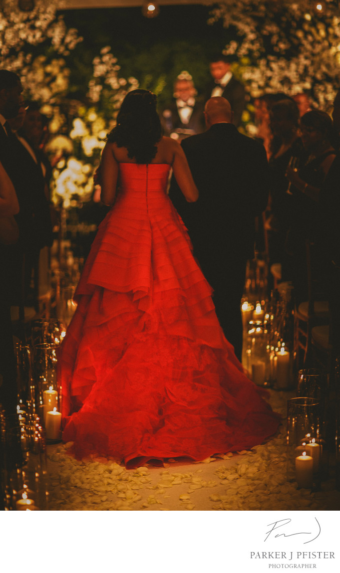 Red Wedding Dress in Aspen CO