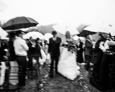 Rainy Wedding on Biltmore Estate