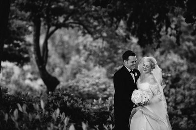 Black and White Asheville Destination Wedding Photos