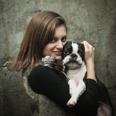 A girl and her Dog Portrait