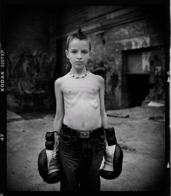 Boy with Boxing Gloves Portrait Photographer
