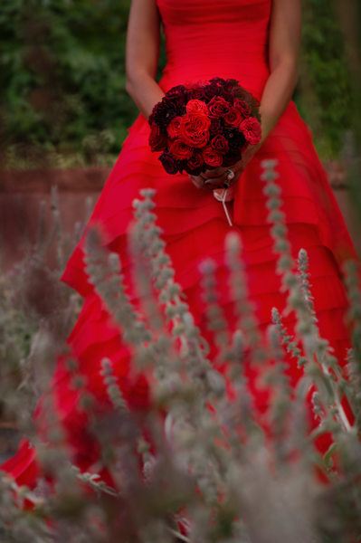 Ritz Carlton Aspen CO Red Wedding Dress Echo Ray