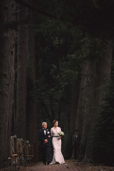 Biltmore Estate Wedding Processional Photography