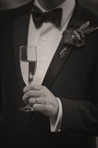Black and White Groom Photographs