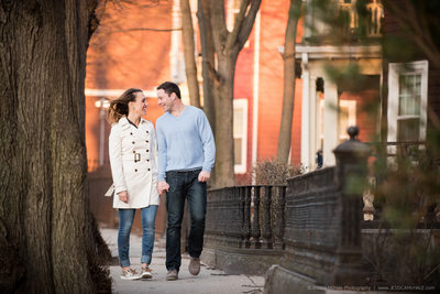 Boston South End Engagement Photos