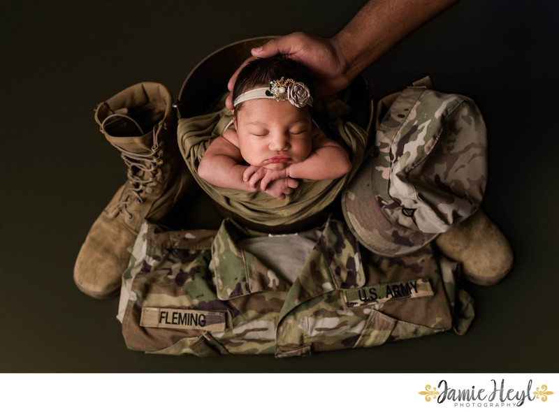 Newborn Army Uniform Photos