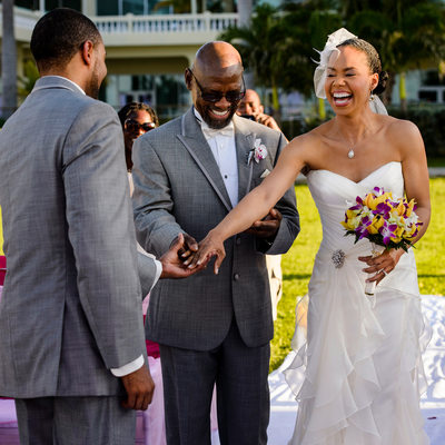 wedding in jamaica at rose hall hilton
