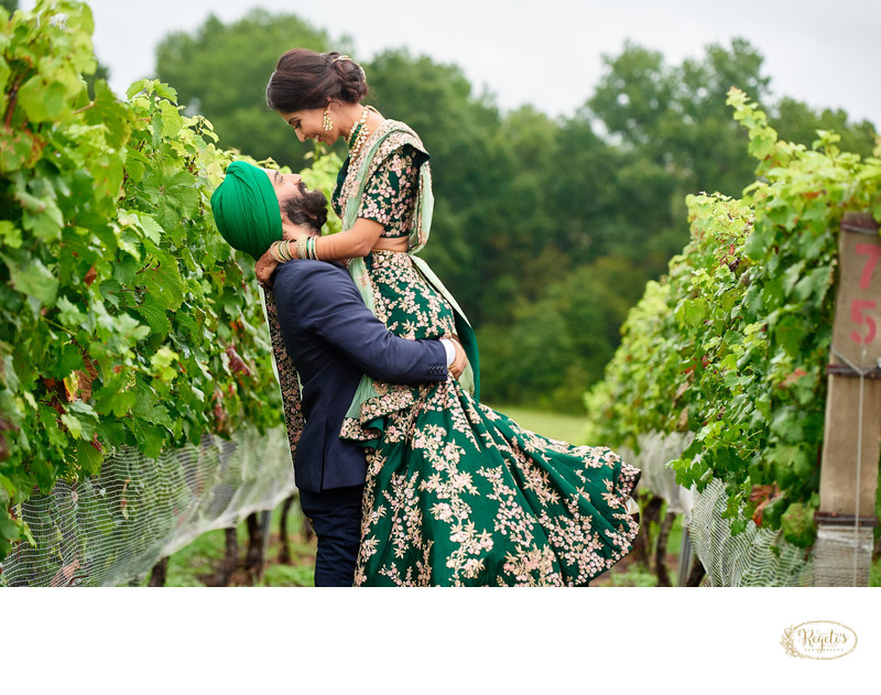 Bride and Groom at Morais Vineyards and Winery