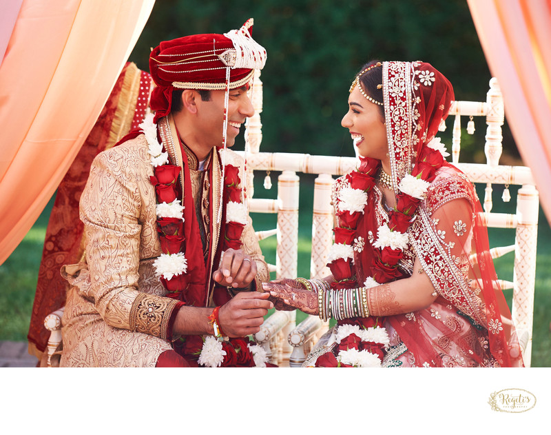 Indian Bride and Groom Ring Exchange Ceremony