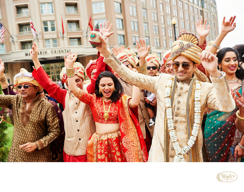 Indian Wedding Baraat at Mandarin Oriental Hotel
