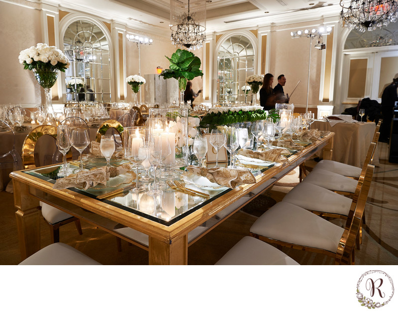 Tablescape at the Fairmont Hotel
