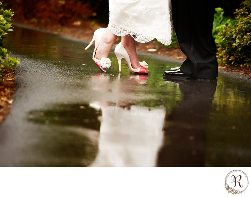 Bride and Groom Infamous Shoe Shot