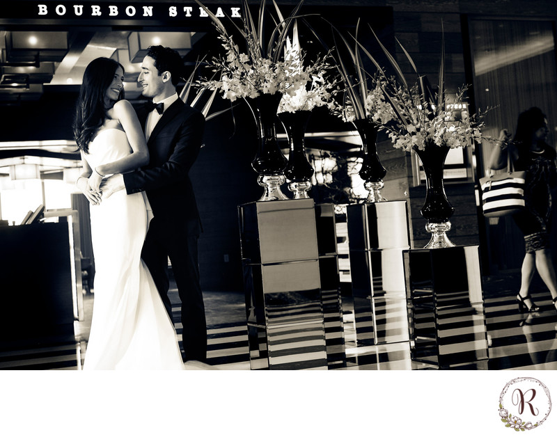 Bride Meets Groom at Bourbon Steak DC
