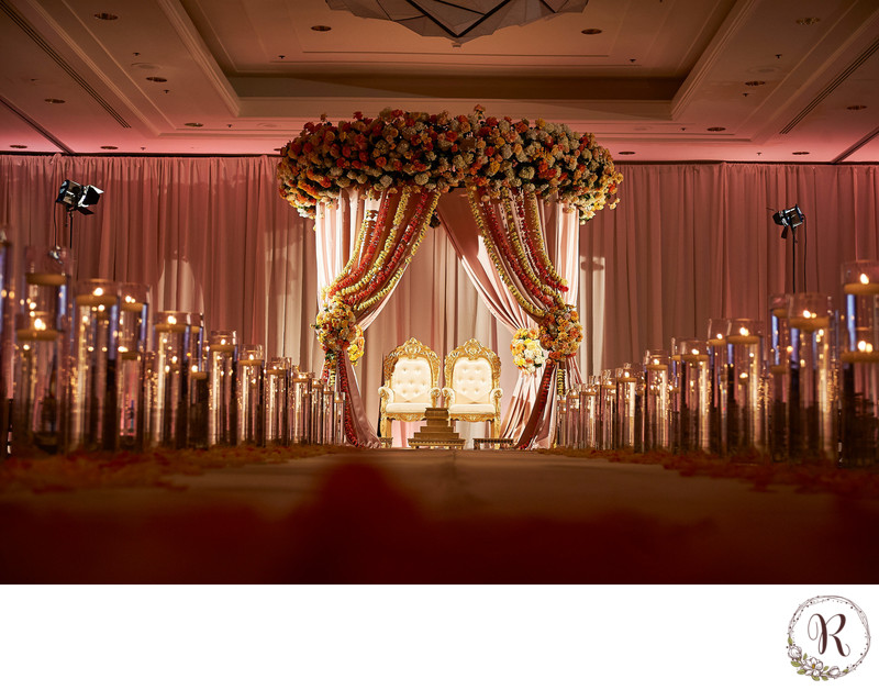 An Aisle Above the Rest - A Raised Mandap
