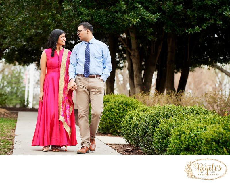 Telugu Bride and Groom and Walking together