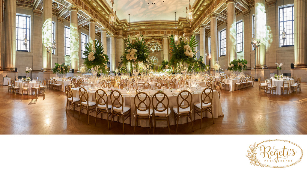Panoramic view of  South Asian Indian Reception Venue in Washington DC