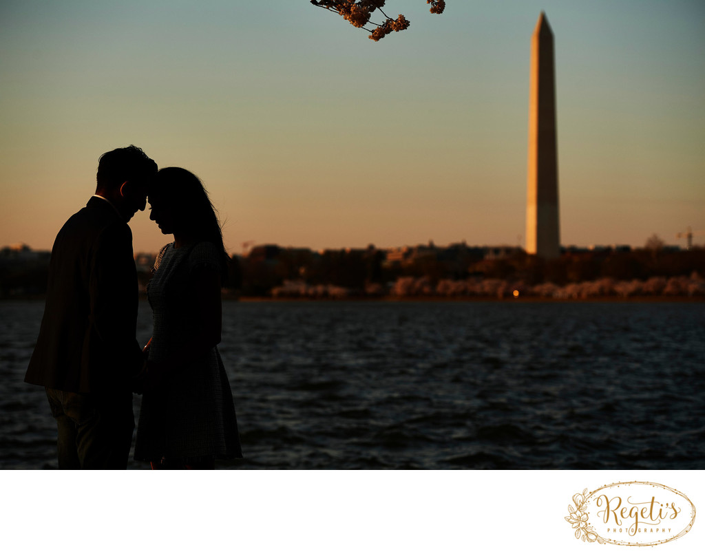 Simran and Ashish Engagement Session at Tidal Basin, Washington DC