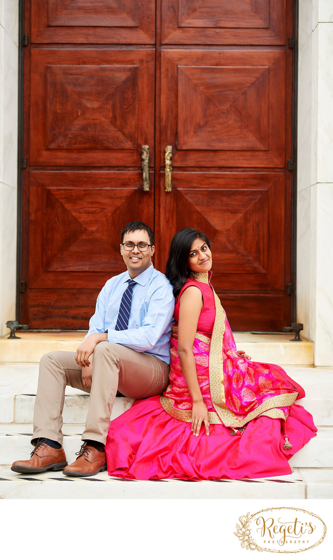 Engagement Photo by South Asian Wedding Photographer DC