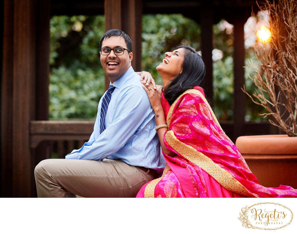 Cherry Blossom E-session Photos of South Indian Couple