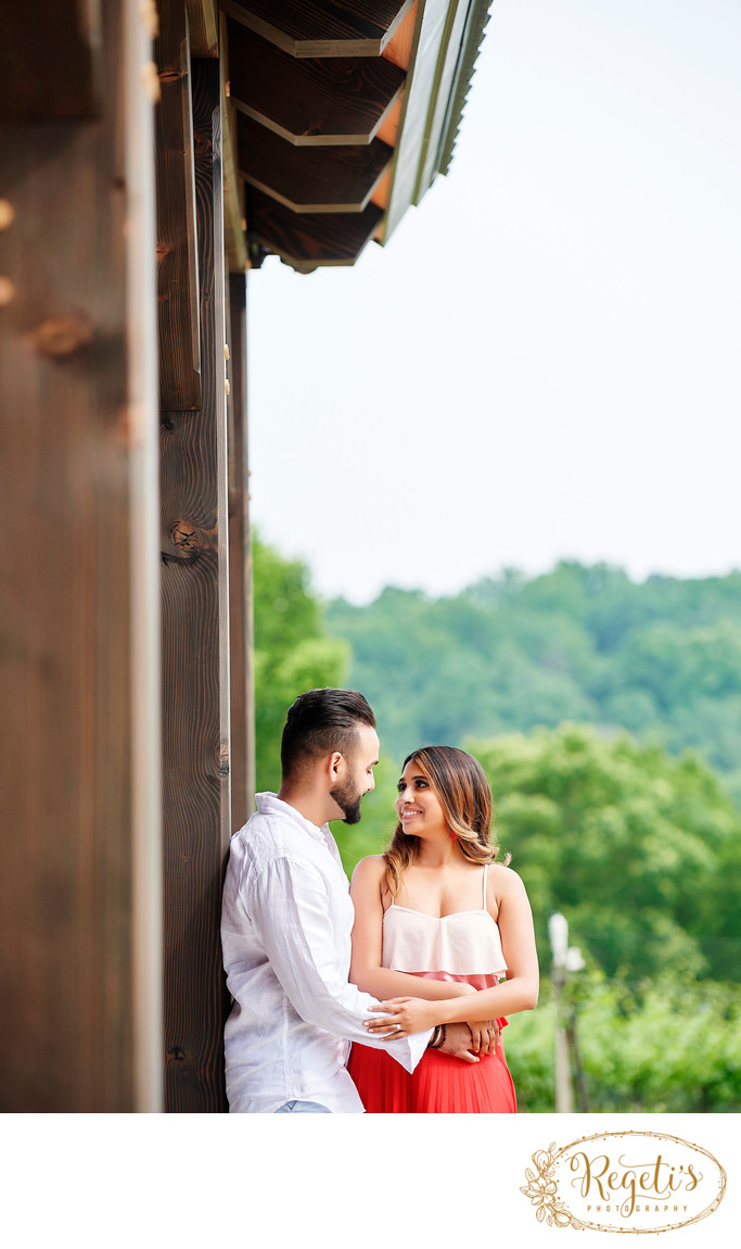 Faria and Osman's Engagement ay Cana Vineyards