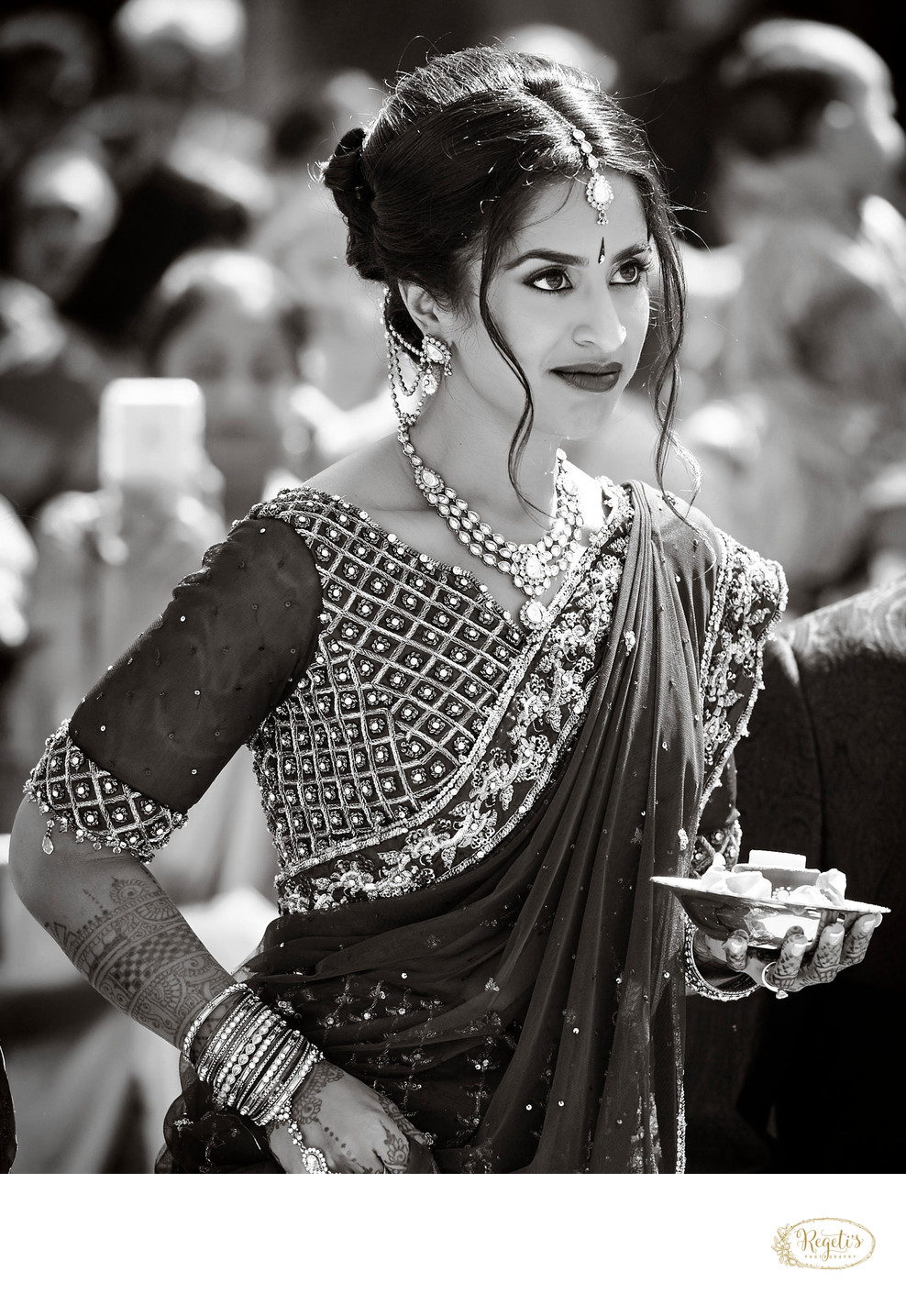 South Indian Bride in a Sari. California Wedding
