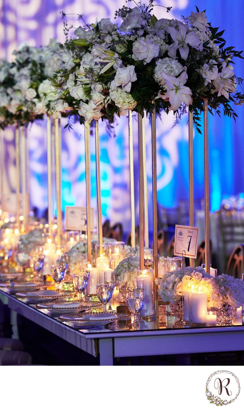 Centerpieces at Wedding Reception, Baltimore