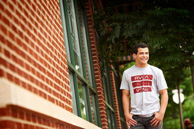 Christian's Senior Portrait on the Main Street