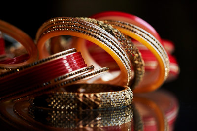 Traditional Wedding Bangles at a South Asian Wedding