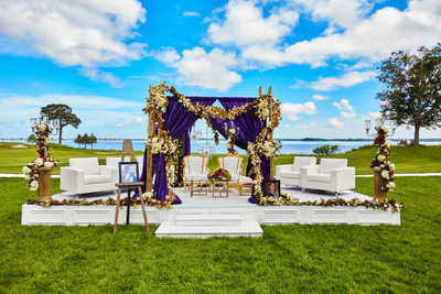 Opulent Mandap Decor,  Hyatt Cambridge, Maryland