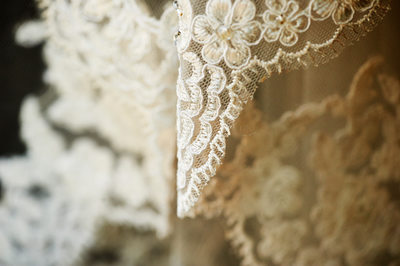 Lace Detailing of Wedding Dress