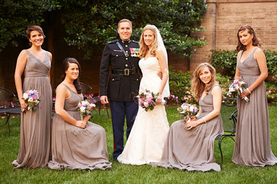 Bridal Party Portraits at the Anderson House