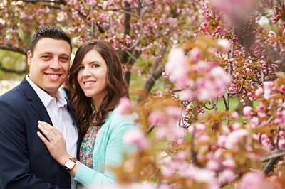 Engagement Session by Cherry Blossoms