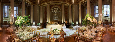 Panoramic view of a  Indian Wedding Reception