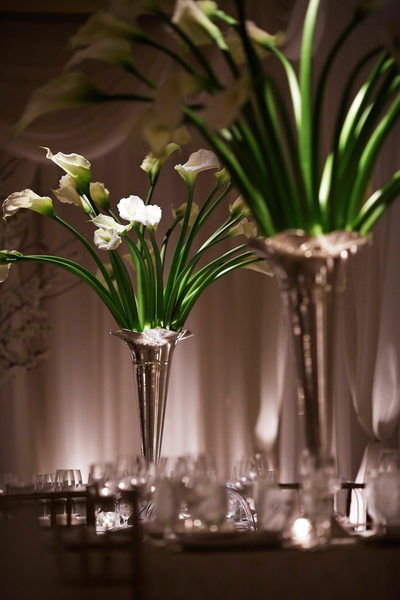 Reception centerpiece at Four Seasons wedding venue