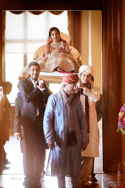 Indian Bride's Entrance, Maharani Style - Paalki