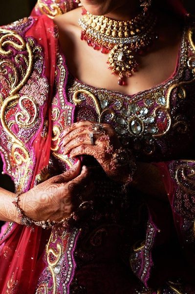 Ornately Adorned Punjabi Bride