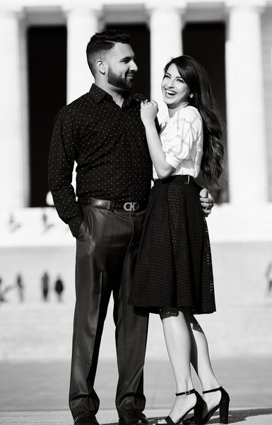 Engagement Session in Washington DC by the Memorials